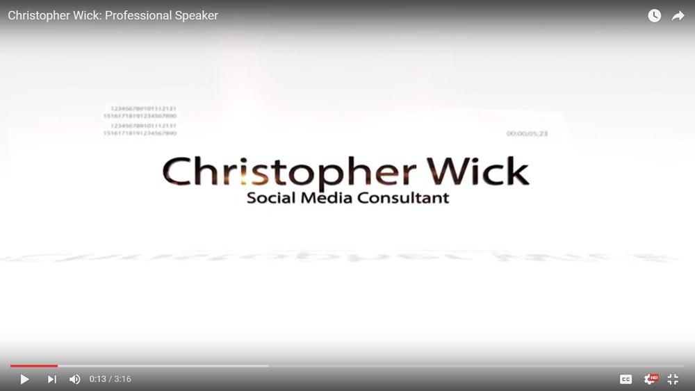 Christopher Wick: Professional Speaker