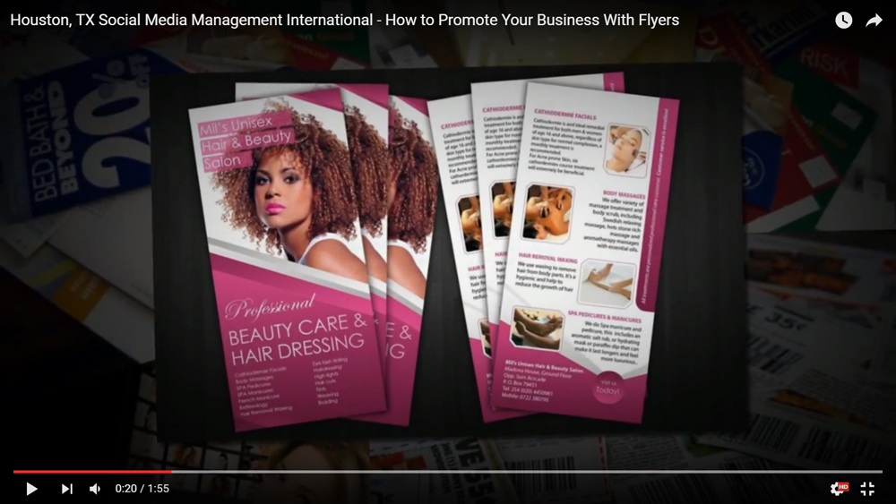 Houston, TX Social Media Management International – How to Promote Your Business With Flyers