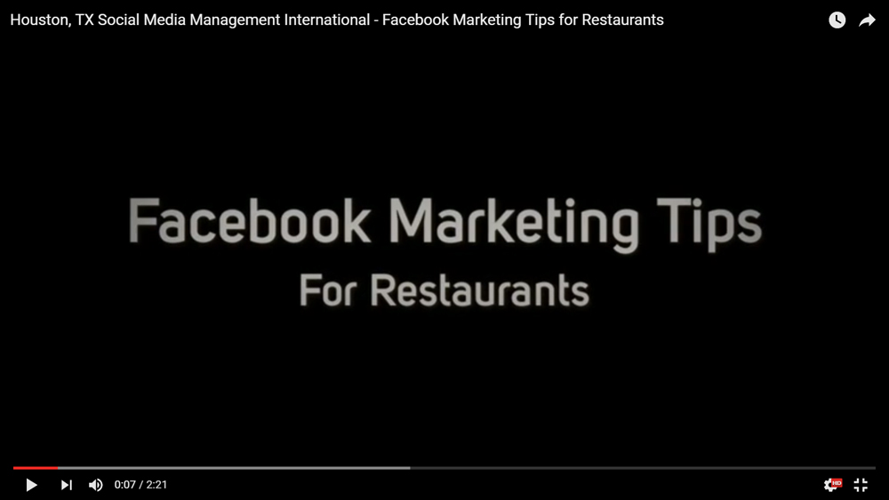 Houston, TX Social Media Management International – Facebook Marketing Tips for Restaurants